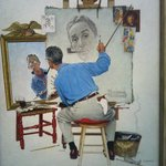 Self - portrait by Norman Rockwell