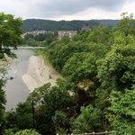 美術館から眺める多摩川
