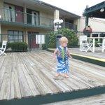 wear shoes on wooden deck!!