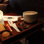 Hot chocolate in Lounge Bar