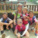 me and my 4 wonderful grandkids!!!!