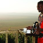 Your private viewing deck overlooking the Masai Mara and migration route