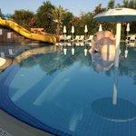 Kiddie pool with slide