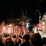 Dramatic Kecak fire dance