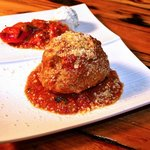 Old School Meatball with San Marzano sauce and fresh ricotta