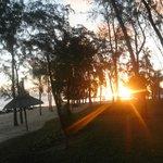 Vue sur le coucher du soleil