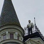 Man on Roof - Cogels Osylei Street