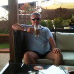 Mythos in bar on beach
