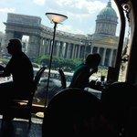 Vu de la Cathédrale depuis la fenêtre du Café Singer