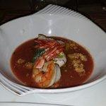 Gaspacho Langoustines sur Ricotta de crabe. ..