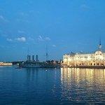 Отель Санкт-Петербург, местные достопримечательности ночью