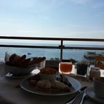 Room Service Breakfast overlooking the Mediterranean
