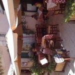 kim on terrace of La Bettola
