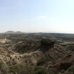 The view point outside the Oldupai Museum