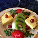 Breakfast fruit plate served daily