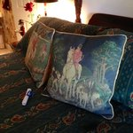 Inviting pillows in The Fox and Hound Room