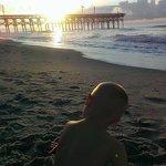 Good morning sunshine on the beach