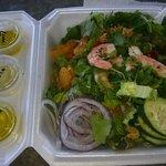 Tom's toasted sesame shrimp salad - YUM!