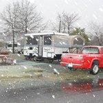 It snowed!