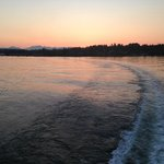 Sunset departure from Bainbridge Island