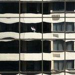 cool reflection from bldg. next door