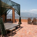 On the roof of each guest house is the option of sleeping under the stars
