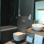 Very comfortable and bright bath room with underfloor heating
