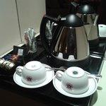Bouilloire et café