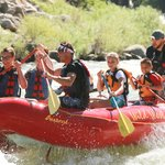 Steven Fraga creating memories on a Half Day Rafting Trip!