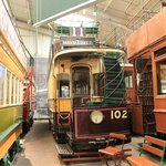 One of the many trams in the indoors display.