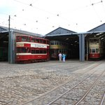 One of the tram garages that are open to view.