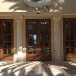 Front door to reception area