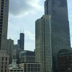 View of Willis (Sears) tower from 9th floor of Hyatt Place