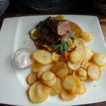 Whale Steak with Potatos and Vegetables
