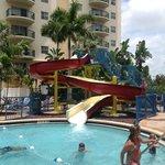 water slide at main pool area