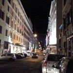 Via Del Virminale à noite