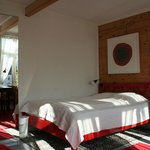 The Red room, double bed