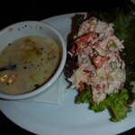 Clam chowder and Lobster roll