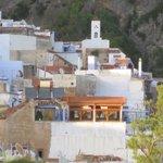La terrasse vue depuis la tour de la kasbah