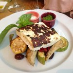 Bulgarian cheese and grilled vegetables