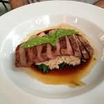 Duck breast with risotto.
