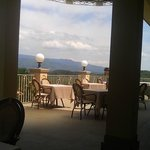 terrazzo panoramico per la colazione e cena