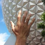 Spaceship EARTH, just like Space Mountain, only really slow and educational