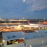 View of airport from room
