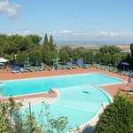 Swimming pool and D`Orcia Valley