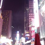 Times Square - you can walk it from the hotel, or jump in a cab!