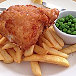 Hake, Chips and Peas - perfectly cooked!