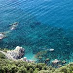Hiking between towns in Cinque Terre.