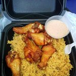 Rice and beans with wings