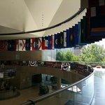 Hall de entrada..bandeiras